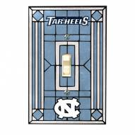 North Carolina Tar Heels Glass Single Light Switch Plate Cover