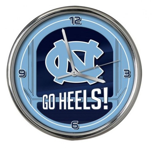 North Carolina Tar Heels Go Team Chrome Clock