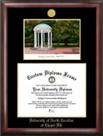 North Carolina Tar Heels Gold Embossed Diploma Frame with Campus Images Lithograph