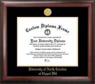 North Carolina Tar Heels Gold Embossed Diploma Frame