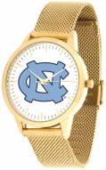 North Carolina Tar Heels Gold Mesh Statement Watch