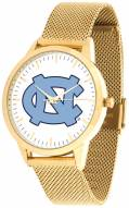 North Carolina Tar Heels Gold Mesh Statement Watch