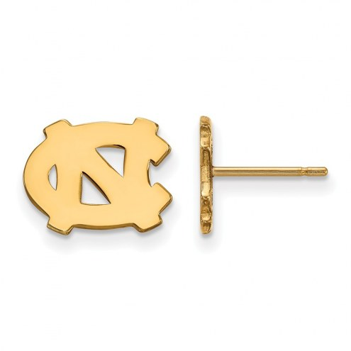 North Carolina Tar Heels Sterling Silver Gold Plated Extra Small Post Earrings