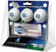 North Carolina Tar Heels Golf Ball Gift Pack with Kool Tool
