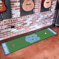 North Carolina Tar Heels Golf Putting Green Mat