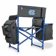 North Carolina Tar Heels Gray/Blue Fusion Folding Chair