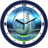 North Carolina Tar Heels Home Run Wall Clock