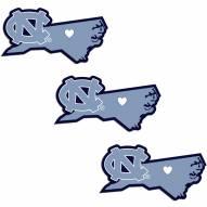North Carolina Tar Heels Home State Decal - 3 Pack
