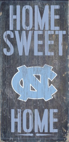 North Carolina Tar Heels Home Sweet Home Wood Sign