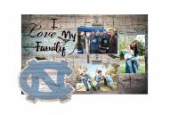 North Carolina Tar Heels I Love My Family Clip Frame