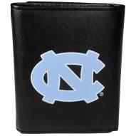 North Carolina Tar Heels Large Logo Leather Tri-fold Wallet