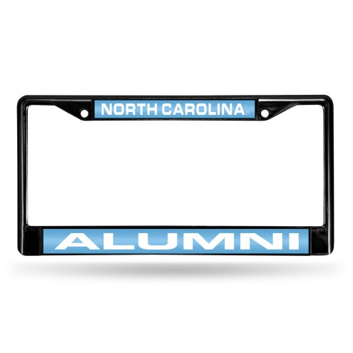 North Carolina Tar Heels Laser Black License Plate Frame