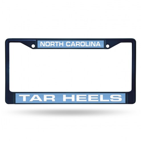North Carolina Tar Heels Laser Colored Chrome License Plate Frame