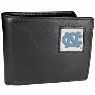 North Carolina Tar Heels Leather Bi-fold Wallet in Gift Box