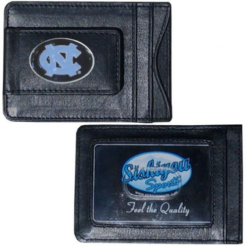 North Carolina Tar Heels Leather Cash & Cardholder