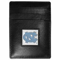 North Carolina Tar Heels Leather Money Clip/Cardholder in Gift Box