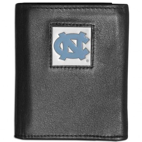 North Carolina Tar Heels Leather Tri-fold Wallet