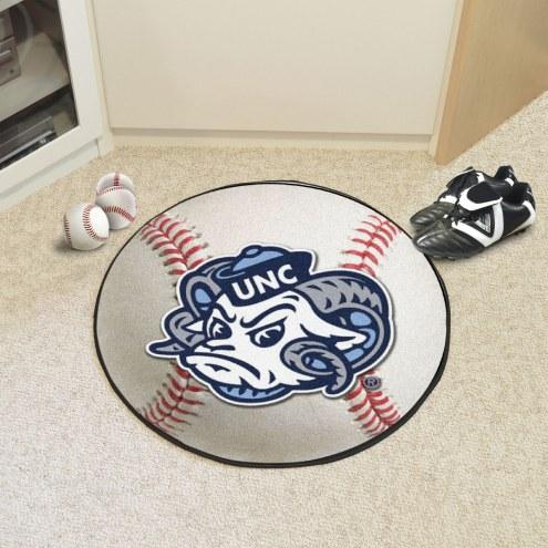 North Carolina Tar Heels Logo Baseball Rug