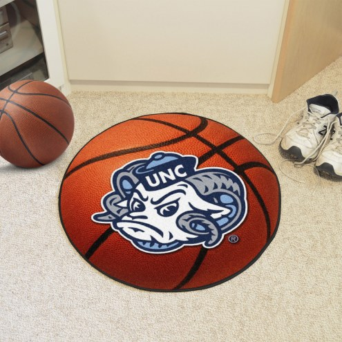 North Carolina Tar Heels Logo Basketball Mat