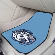 North Carolina Tar Heels Logo 2-Piece Carpet Car Mats