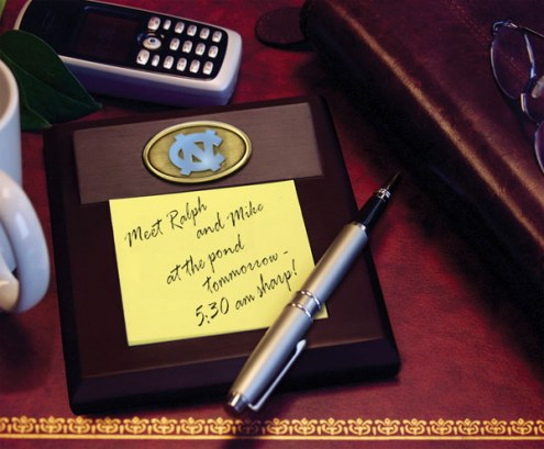 North Carolina Tar Heels Memo Pad Holder