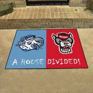 North Carolina Tar Heels/NC State Wolfpack House Divided Mat