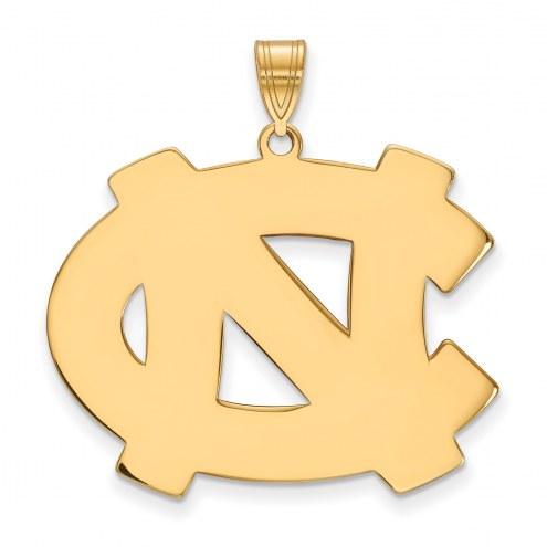 North Carolina Tar Heels NCAA Sterling Silver Gold Plated Extra Large Pendant