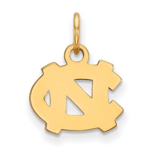 North Carolina Tar Heels NCAA Sterling Silver Gold Plated Extra Small Pendant