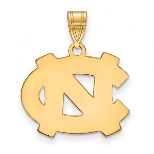 North Carolina Tar Heels NCAA Sterling Silver Gold Plated Medium Pendant