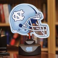 North Carolina Tar Heels Neon Helmet Desk Lamp
