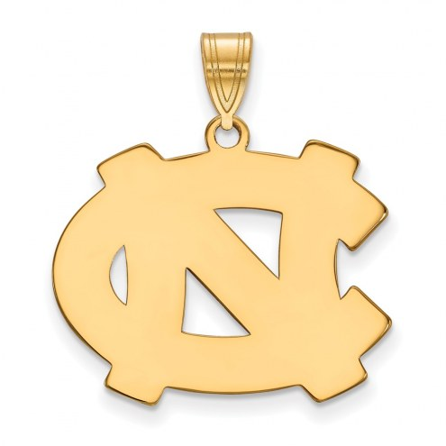 North Carolina Tar Heels NCAA Sterling Silver Gold Plated Large Pendant