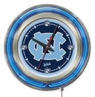 North Carolina Tar Heels Neon Clock