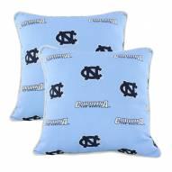 North Carolina Tar Heels Outdoor Decorative Pillow Set