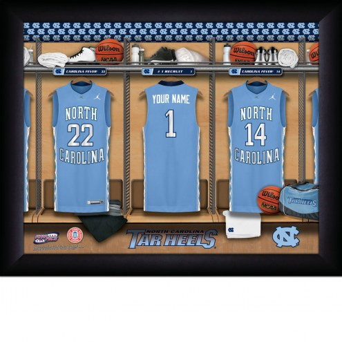 North Carolina Tar Heels Personalized Basketball Locker Room 11 x 14 Framed Photograph