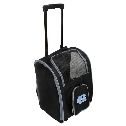 North Carolina Tar Heels Premium Pet Carrier with Wheels
