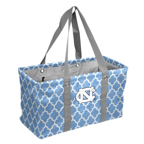 North Carolina Tar Heels Quatrefoil Picnic Caddy