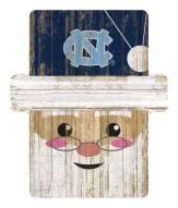 North Carolina Tar Heels Santa Ornament