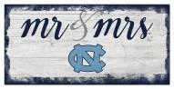 North Carolina Tar Heels Script Mr. & Mrs. Sign