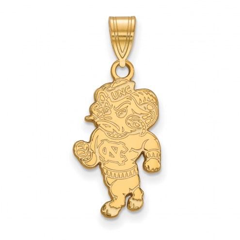North Carolina Tar Heels Sterling Silver Gold Plated Large Pendant