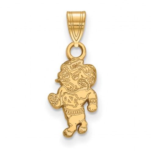 North Carolina Tar Heels Sterling Silver Gold Plated Small Pendant