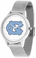 North Carolina Tar Heels Silver Mesh Statement Watch