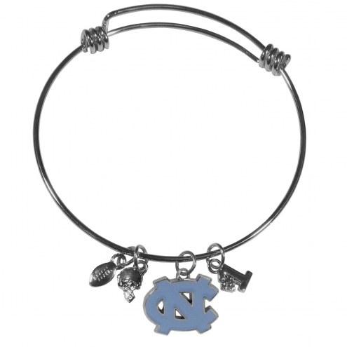 North Carolina Tar Heels Charm Bangle Bracelet