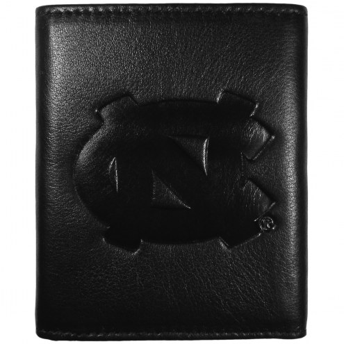 North Carolina Tar Heels Embossed Leather Tri-fold Wallet