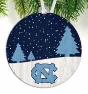 North Carolina Tar Heels Snow Scene Ornament
