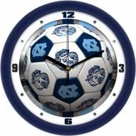 North Carolina Tar Heels Soccer Wall Clock