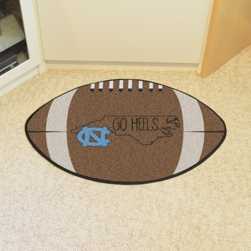 North Carolina Tar Heels Southern Style Football Floor Mat