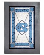 North Carolina Tar Heels Stained Glass with Frame