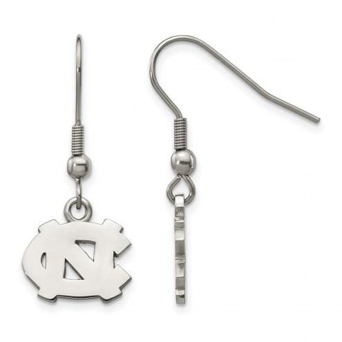 North Carolina Tar Heels Stainless Steel Dangle Earrings