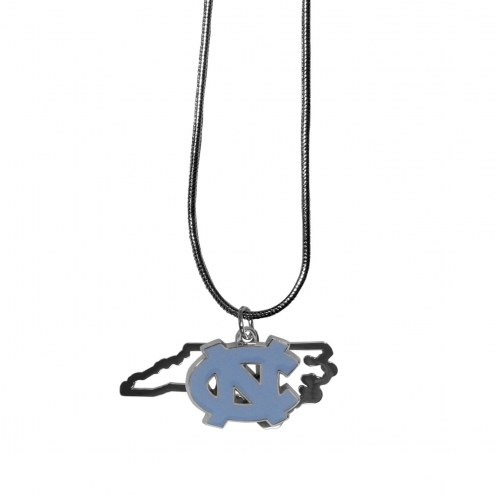 North Carolina Tar Heels State Charm Necklace