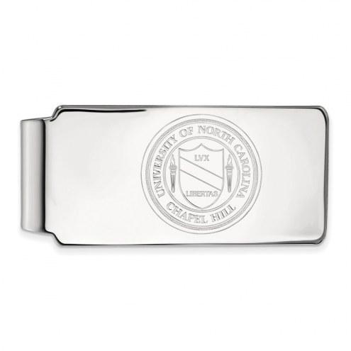North Carolina Tar Heels Sterling Silver Crest Money Clip